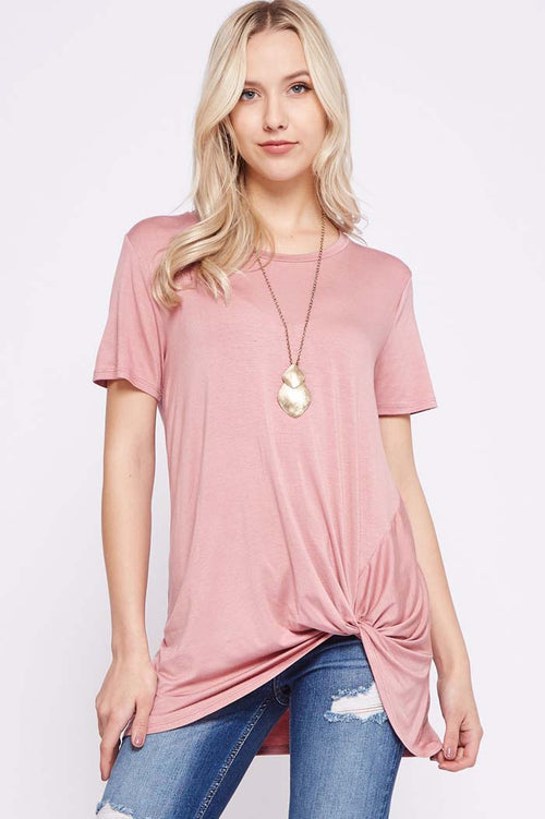 Clara Side Knot Top : Mauve