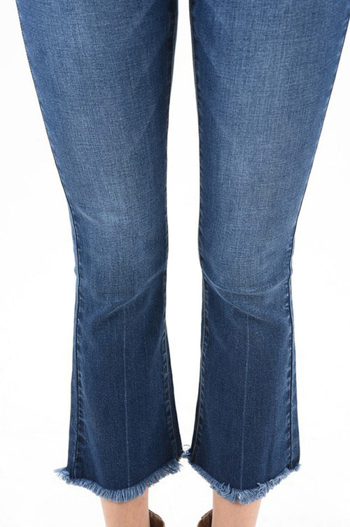 Vanessa Boots Cut Jeans : Dark Blue
