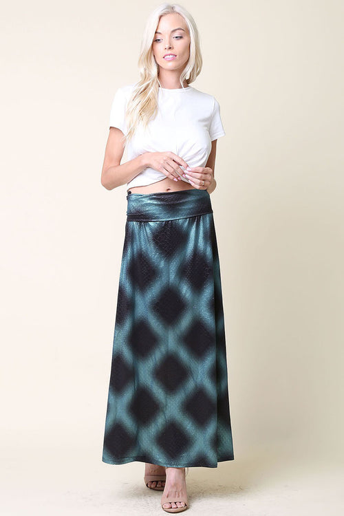 Mermaid Print Skirt : Teal