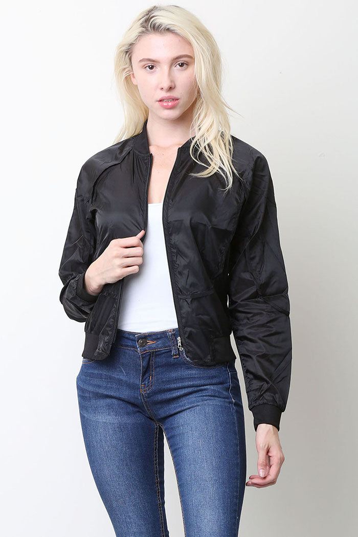Eleanor Solid Bomber Jacket