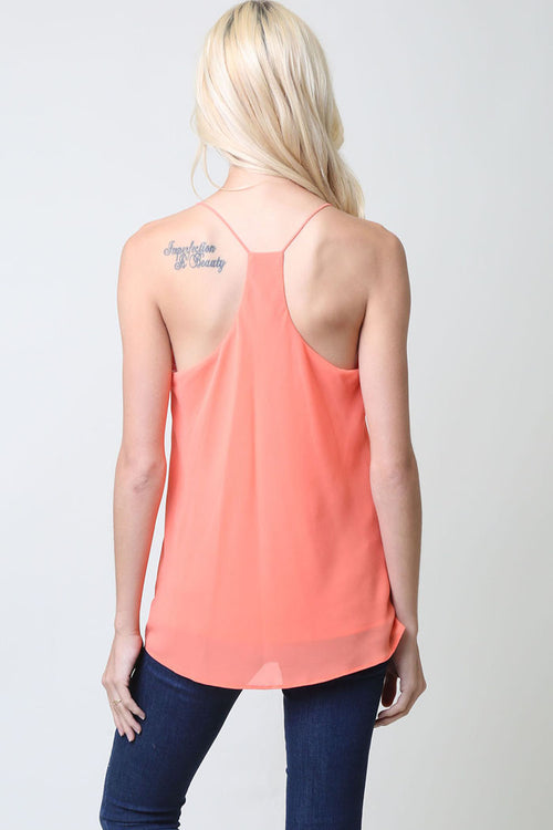 Tori Camisole Tank Top : Papaya