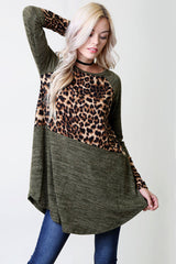 Animal Solid Top : Olive