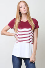 Color Block and Stripe Top