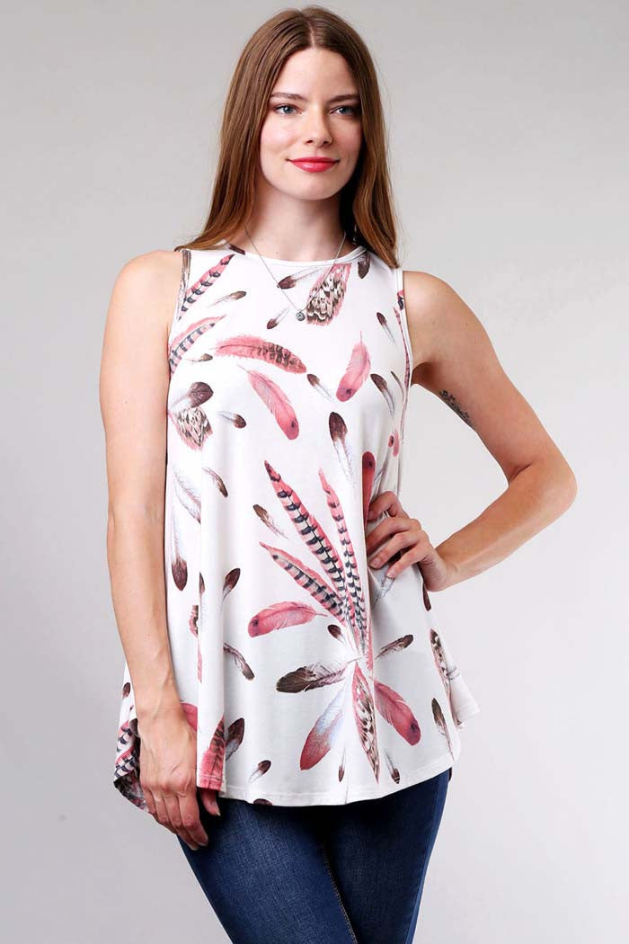 Feather Tank Top - Shirts - GOZON