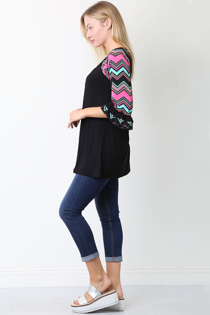 Samantha Half Sleeve Tunic Top