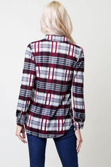 Everyday Flannel Shirt - Red/Grey
