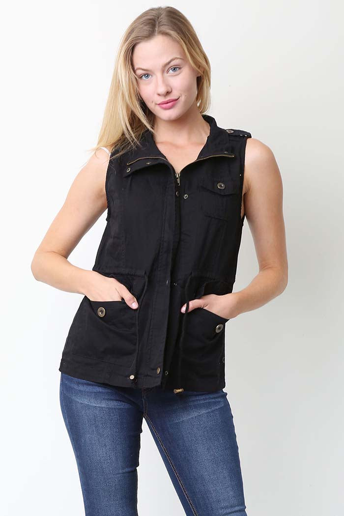 Madelyn Zip Up Front Vest Jacket