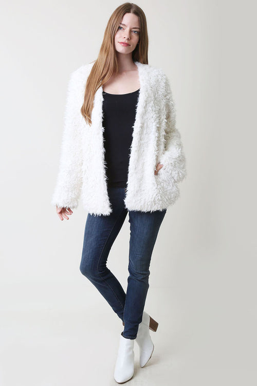 Amy Fur Jacket : Off White