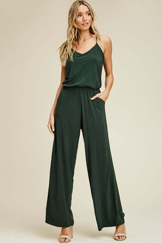 Stella Tropical Wide Leg Pant : Faded Olive