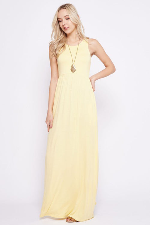 Solid Maxi Dress : Banana