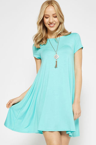 Rosa Solid Tunic Top : Orion Blue
