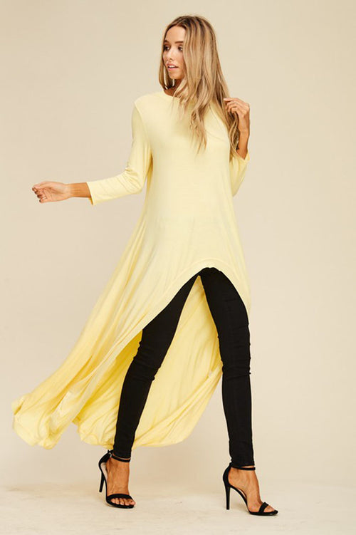 Nicole Hi-lo Tunic Top : Banana