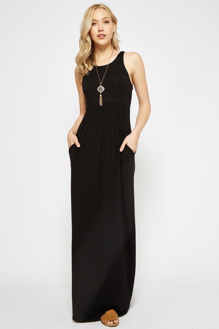 Solid Maxi Dress : Heather Grey
