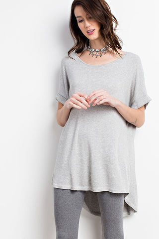 Arianna Button Down Sweater : Charcoal