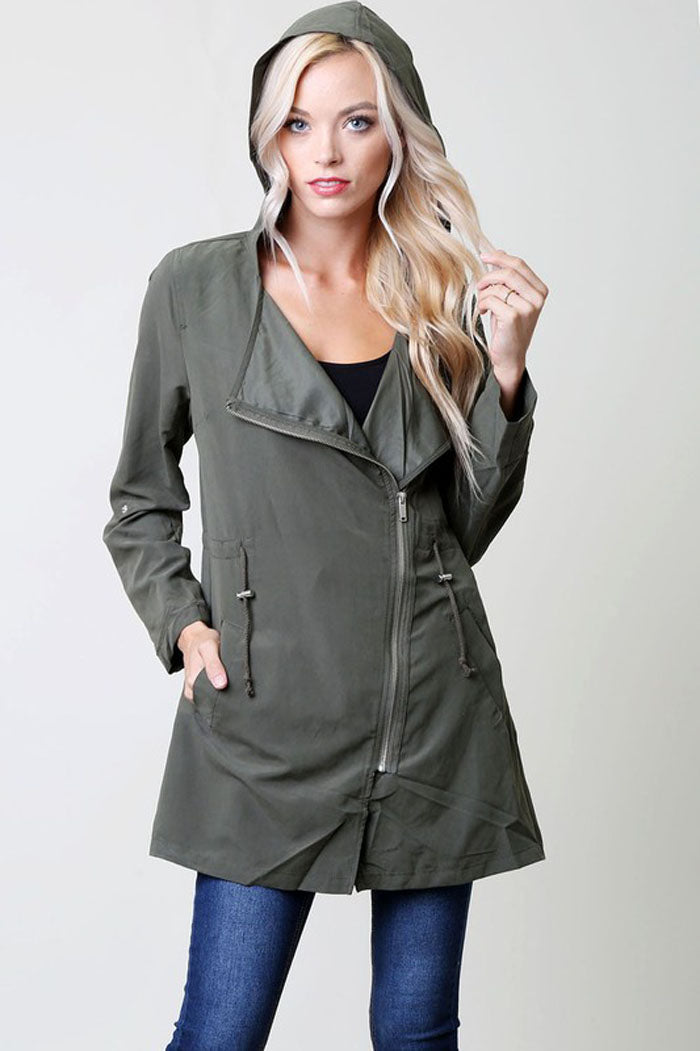 Asymmetric Hooded Jacket