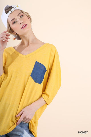 Maggie Dye Tunic Top : Yellow