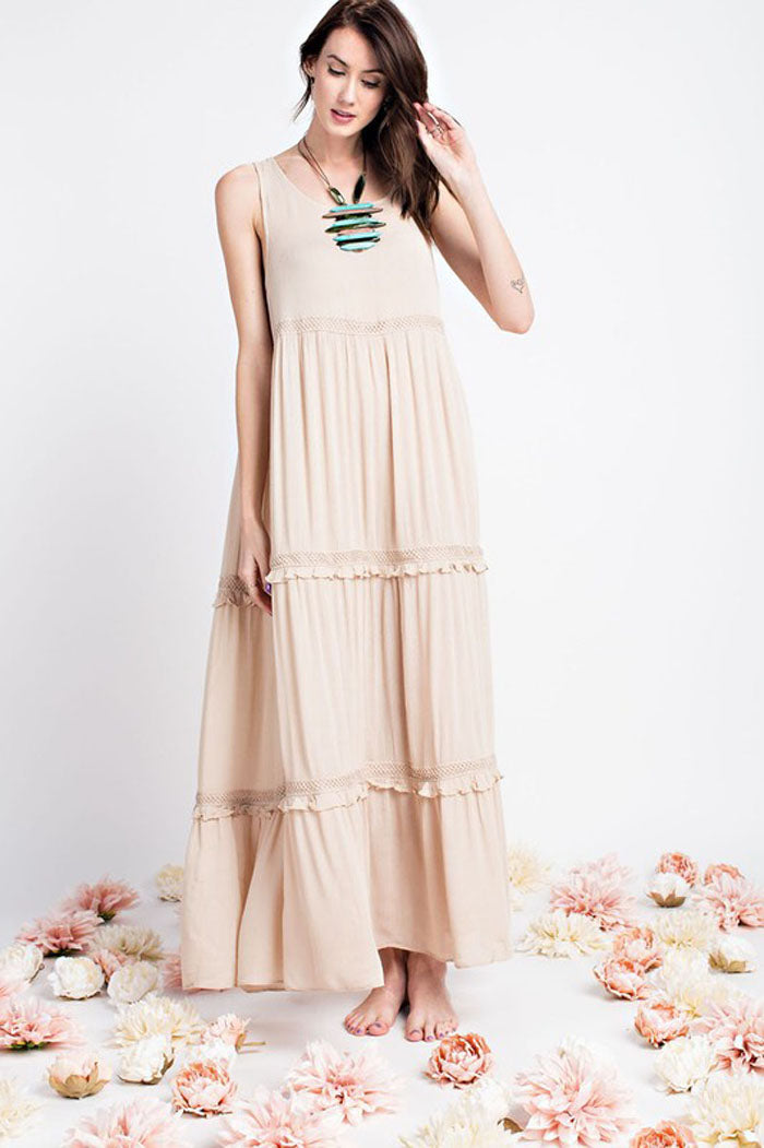 Helen Flowy Maxi Dress : Natural
