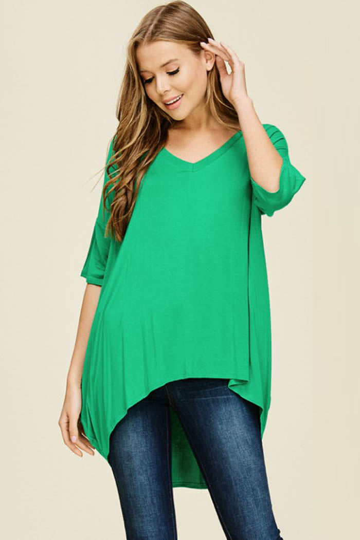 Jessica Oversized Tunic Top : Slate
