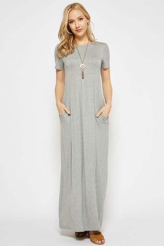 Solid Daily Maxi Dress Plus : Dusty Pink
