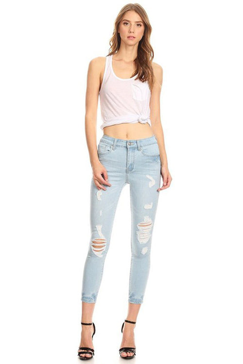 Rudy High-Rise Ankle Jeans
