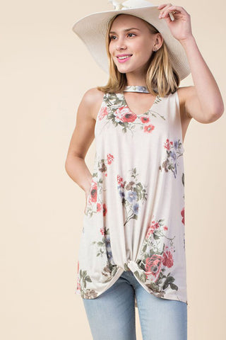 Lindsey Floral Embroidery Dress Plus : Light Blue