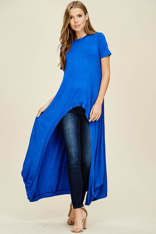 Abbey Hi-lo Tunic Top : Royal