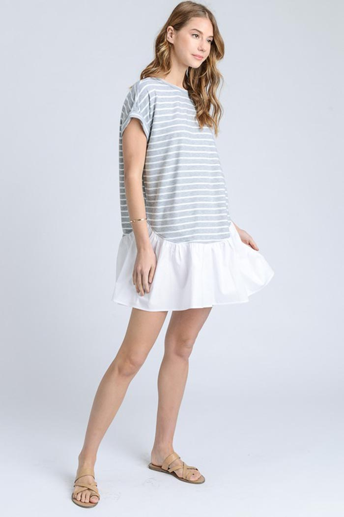 Anna T-Shirt Dress : Grey