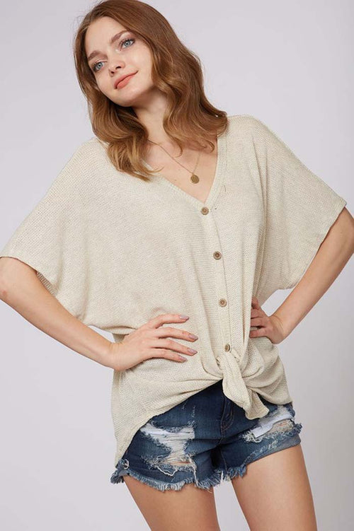 Katie Button Down Sweater : Oatmeal