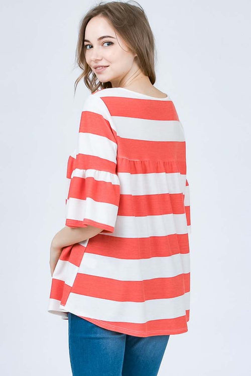 Mary Comfy Tunic Top : Red