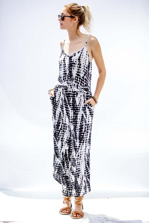 Sandy Tie Dye Jumpsuits : Black