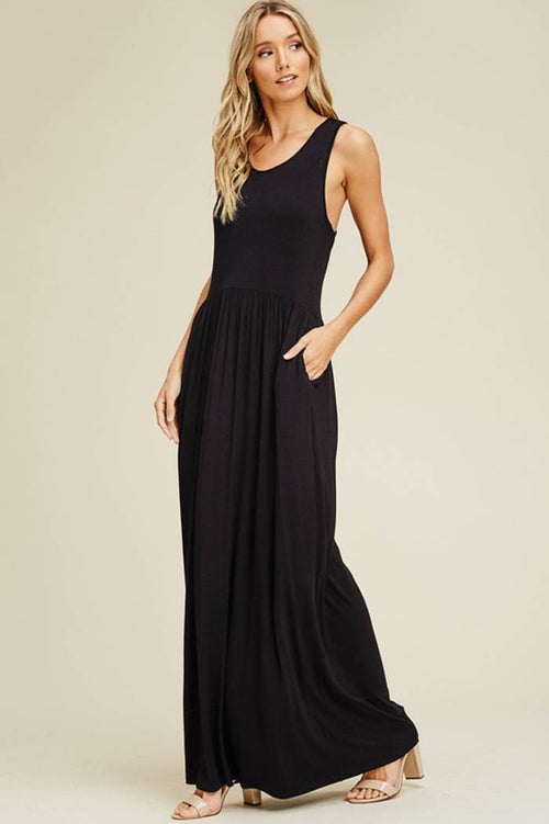 Shelley Essential Maxi Dress : Black