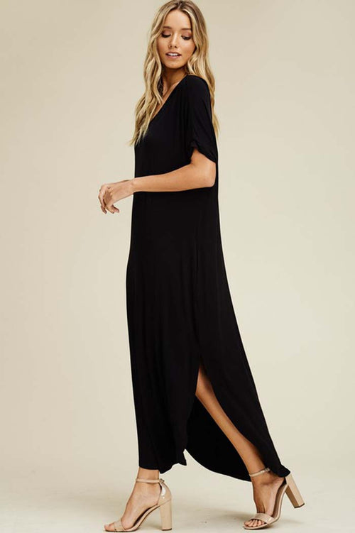 Ashley Essential Maxi Dress : Black