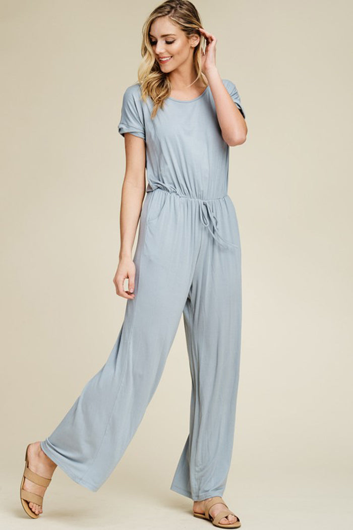 Sophie Open Back Jumpsuits : Papaya