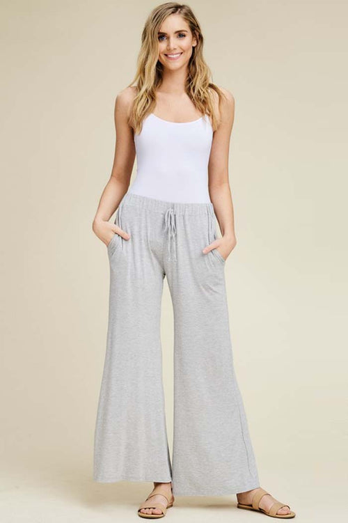 Izzy Lounging Wide Pants : Heather Grey