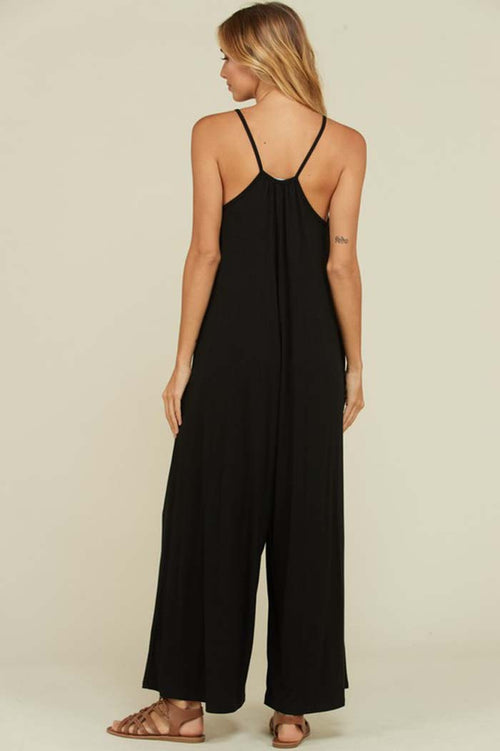 Lexi Wide Pants Jumpsuits : Black