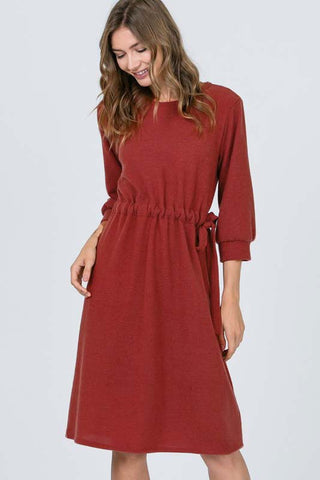 Chloe 3/4 Sleeve Solid Jumpsuits : Anthra