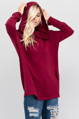 Casual Cowl Neck Hoodie