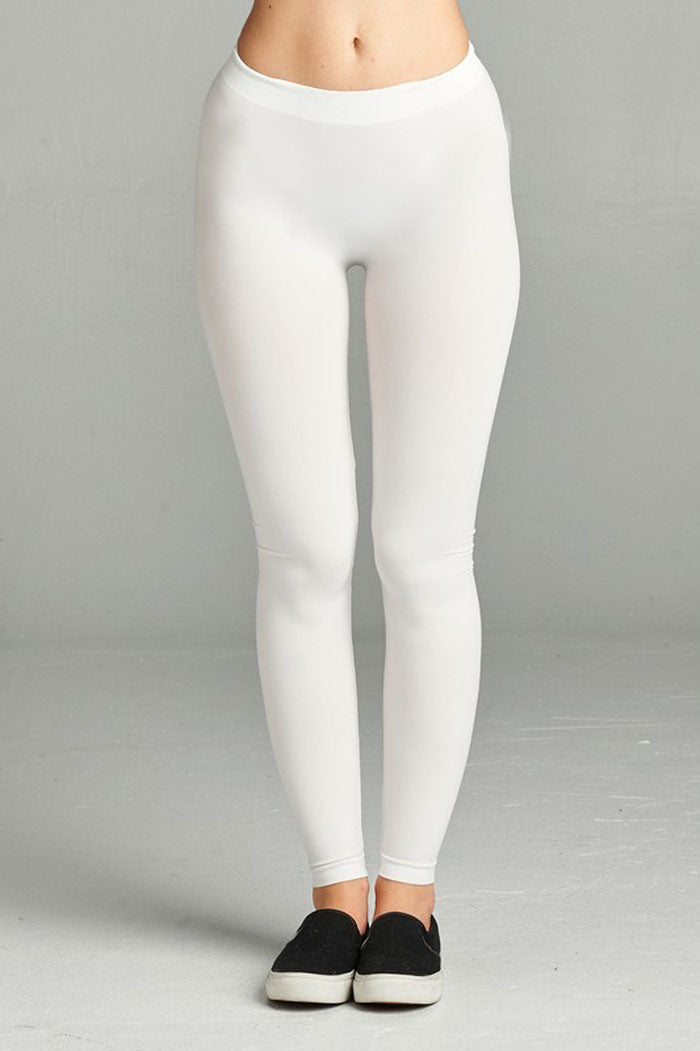 Seamless Basic Leggings : White