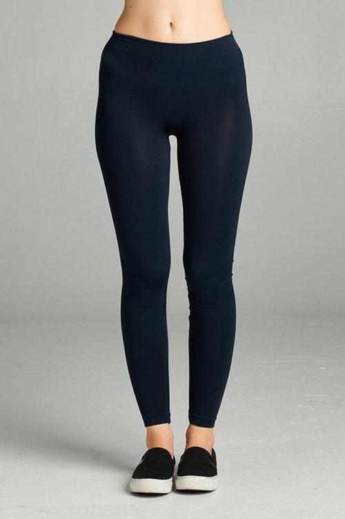 Seamless Basic Leggings : Night navy