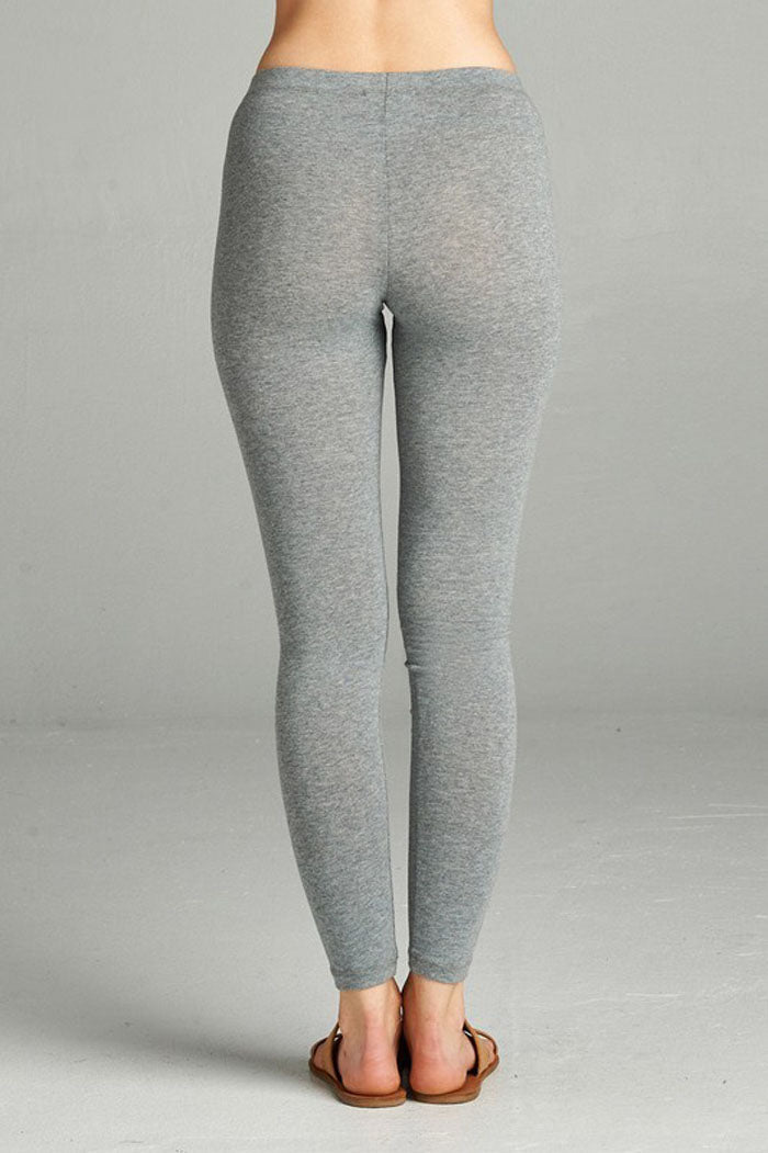 Classic Cotton Leggings : Heather grey