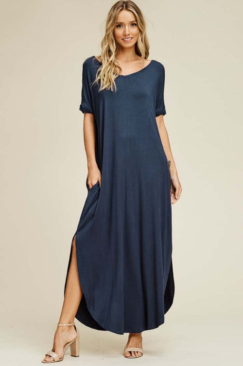 Ashley Essential Maxi Dress : Slate