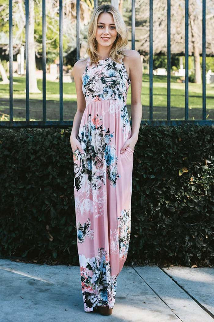 Floral Bouquet Maxi Dress - Maxi - GOZON