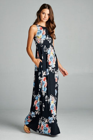 Bunch of Floral Dress - Maxi - GOZON
