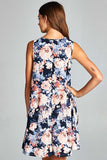 Floral A-Line Mini Dress - Mini - GOZON