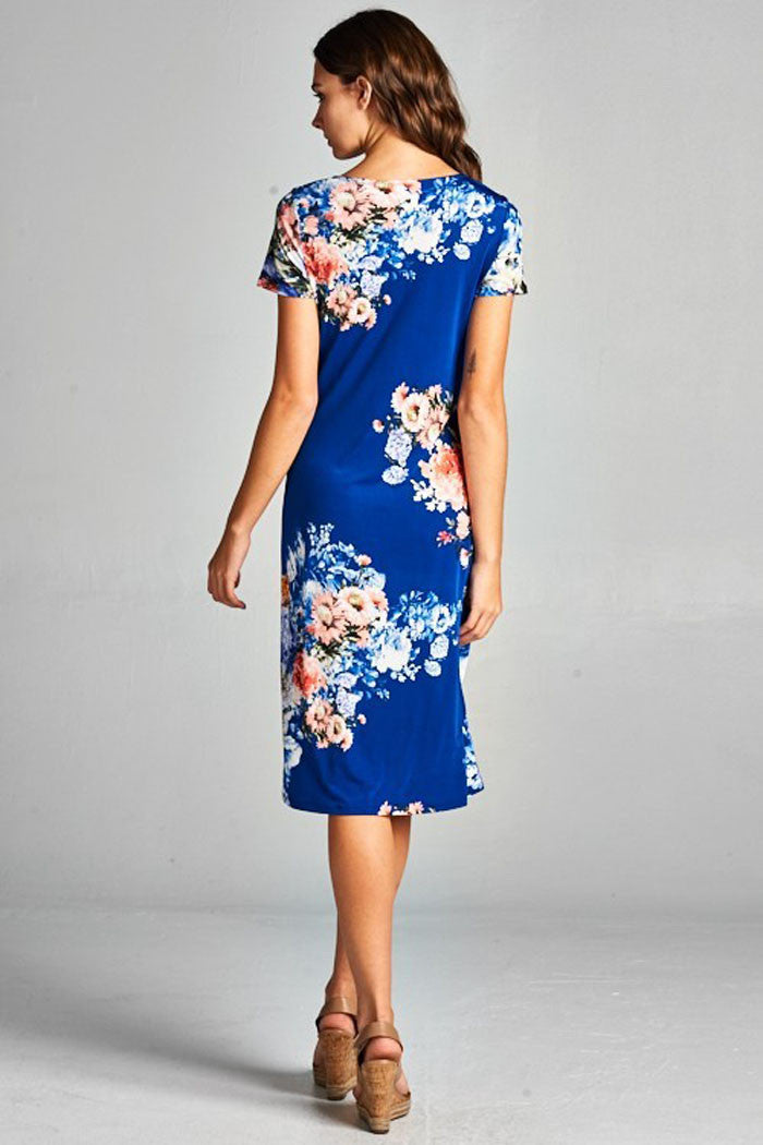 Elegant Floral Midi Dress - midi - GOZON