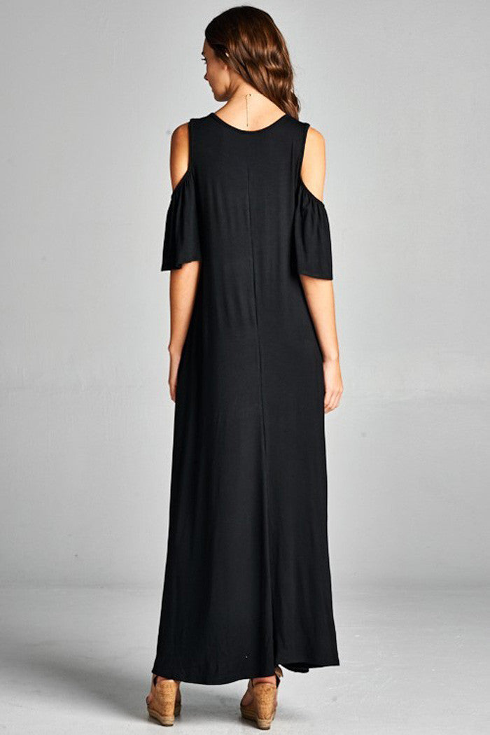 Cold Shoulder Maxi Dress - Maxi - GOZON