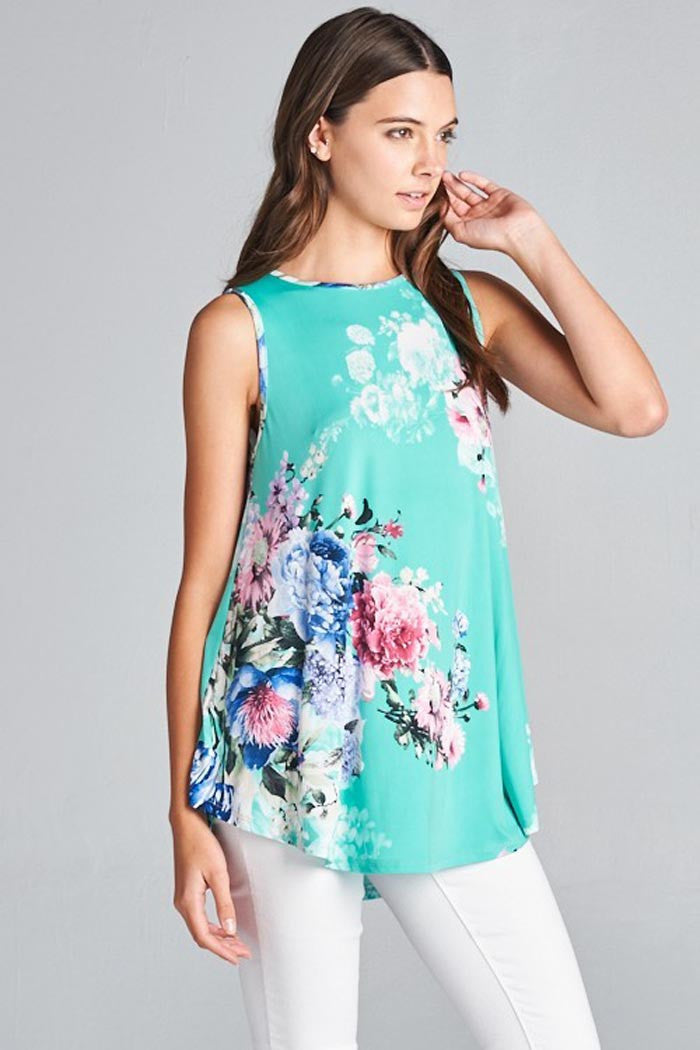 Casual Mint Tank Top