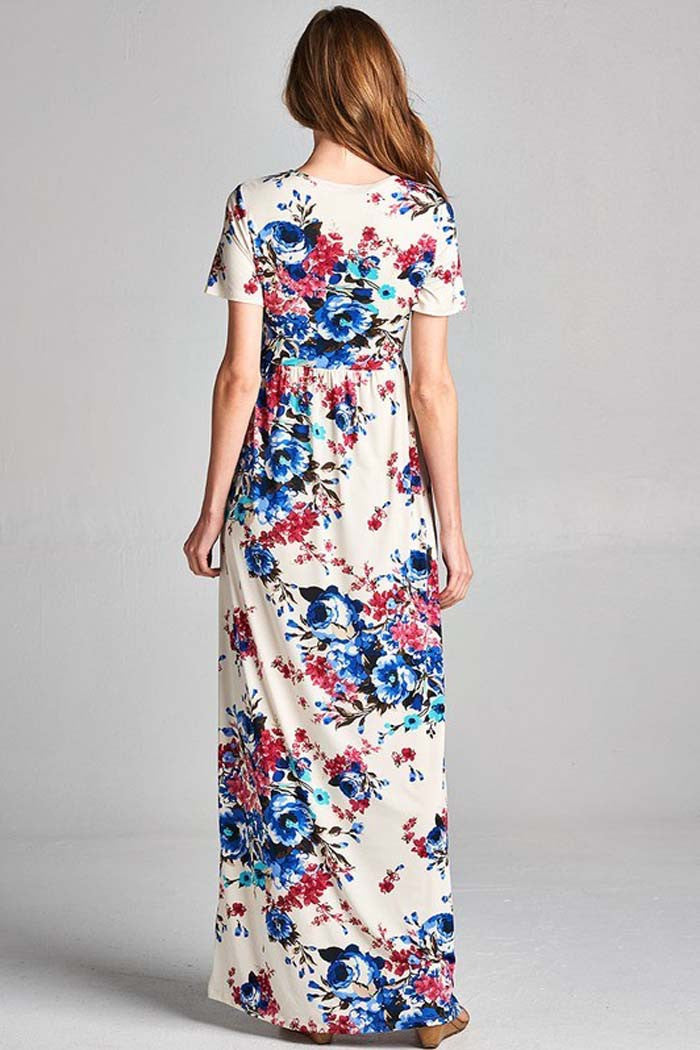 Daily Floral Maxi Dress - maxi - GOZON