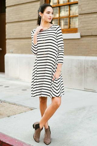 Babydoll Casual Midi Dress