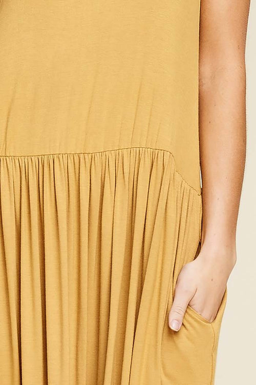 Khloe Solid Loose Knit Full Long Dress :  Bronze